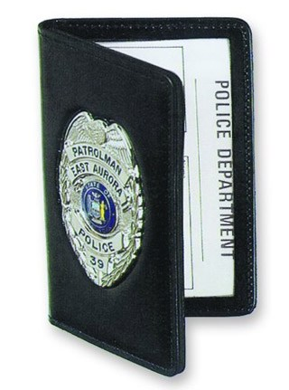 Side Open Double ID Outside Badge Mount - Duty-Strong Leather