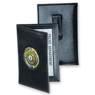 Side Open Double ID Outside Badge Mount - Dress-Strong Leather
