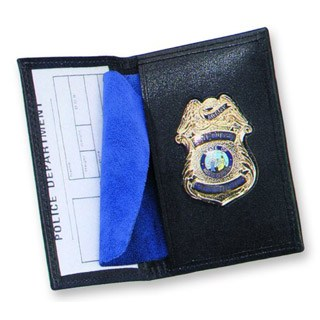 Side Open Badge Case - Dress-Strong Leather