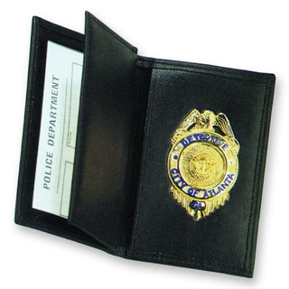 Side Open Double ID Badge Case- Dress-Strong Leather