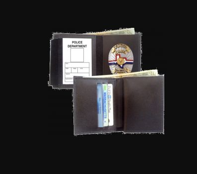 Hidden Badge Wallet-Strong Leather