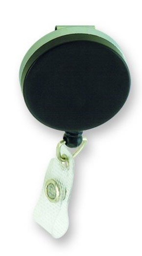 Retractable Badge Holder - Metal-Strong Leather