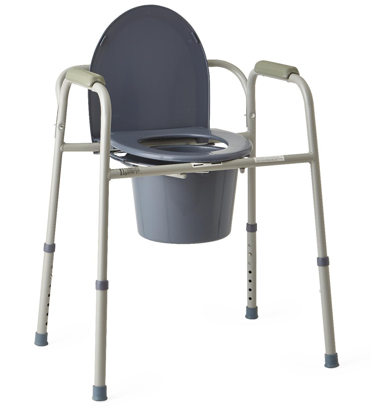 3-in-1 Steel Commode-Medline