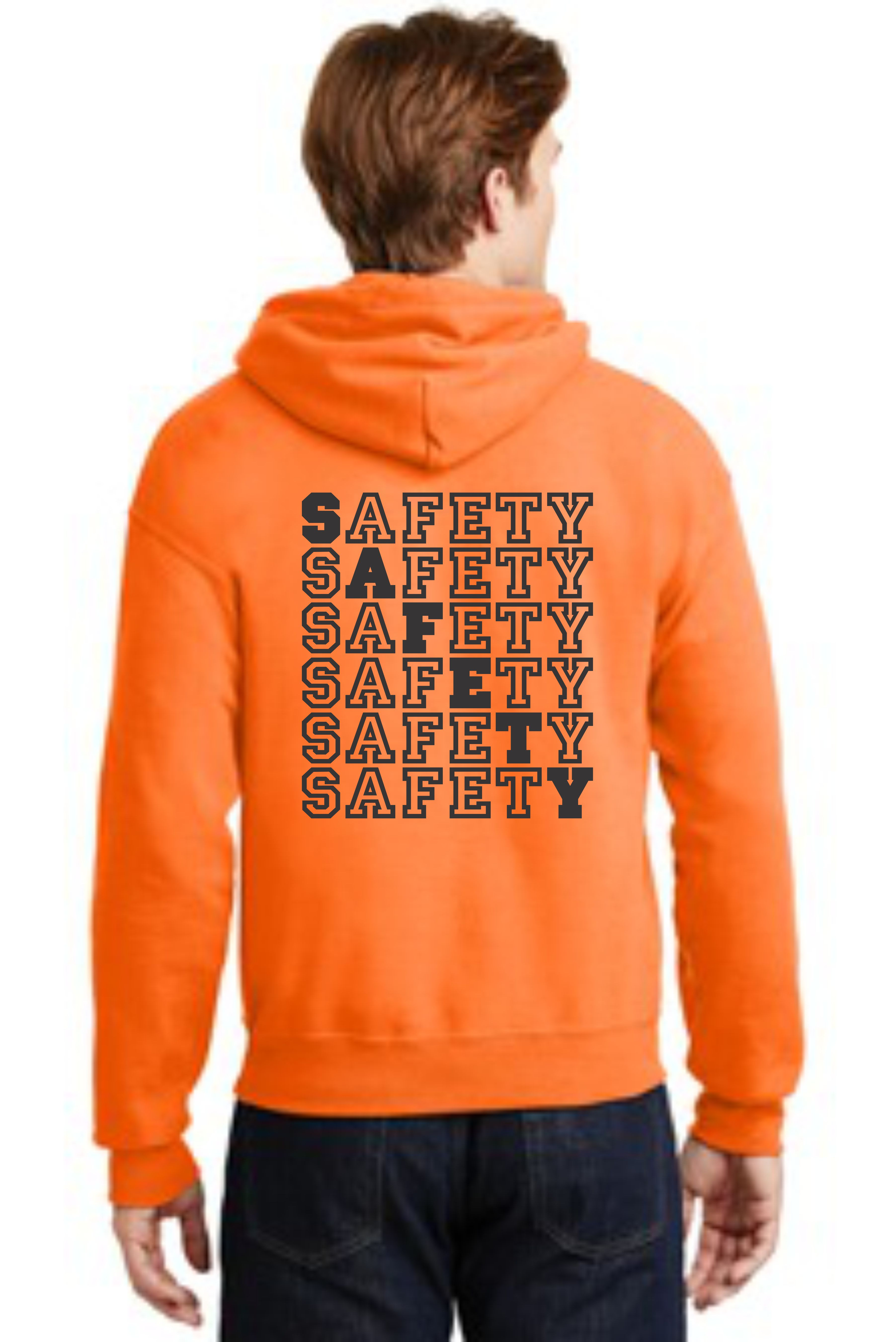 HOODED SAFETY SWEATSHIRT -- SAFETY
