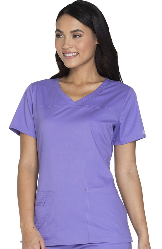 EHS V Neck Premium Stretch Scrubs Style C1 Top -EHS