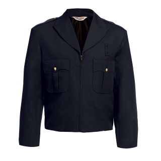 10505 Zippered Front Ike Jacket - Serge Weave
