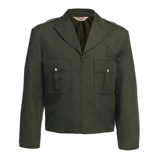 10516 Zippered Front Ike Jacket - Serge Weave