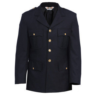 10603 Single Breasted Dress Coat - Serge Weave-