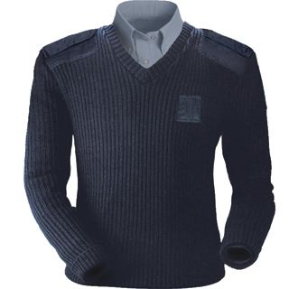 Acrylic Commando V-neck Sweater-