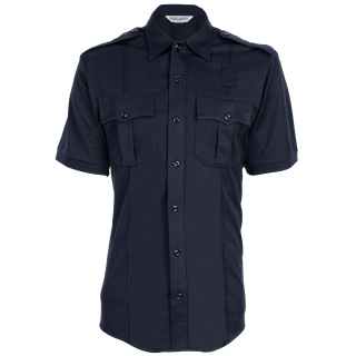 580 Mens Coolmax Class A Short Sleeve Shirt with Zipper-