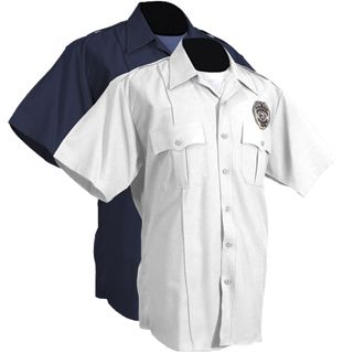Short SleevePolyester Police Shirt - Mens-Tactsquad