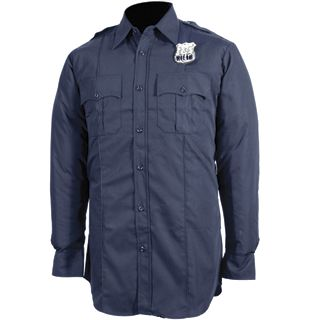 NYPD Long Sleeve Shirt - Poly/Cotton - Mens-