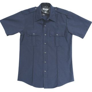 NYPD Short Sleeve Shirt - Poly/Cotton - Mens-