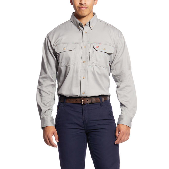 FR Solid Vent Work Shirt-arifr