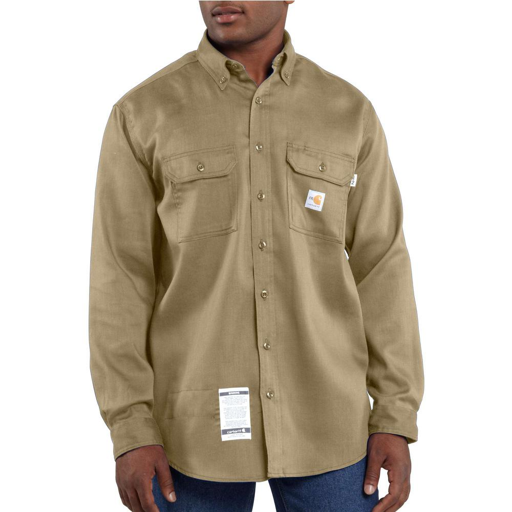 Mens Flame-Resistant LW Twill Shirt-Carhartt