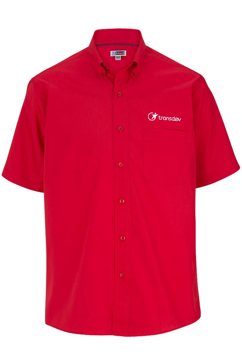 Edwards Mens Lightweight Short Sleeve Poplin Shirt-Capp Uniform Services