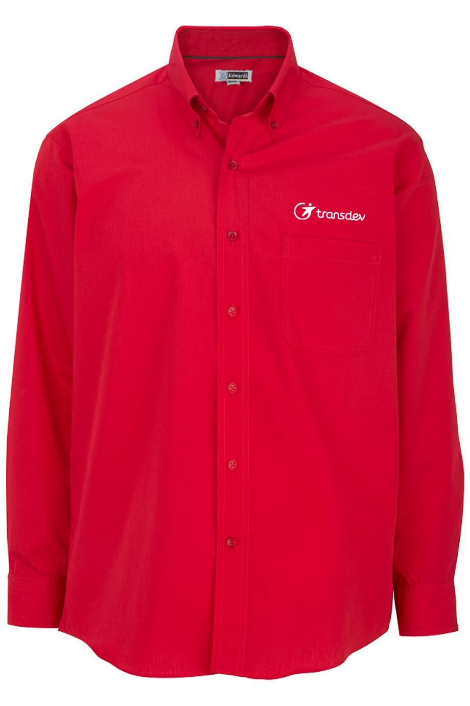 Edwards Mens Lightweight Long Sleeve Poplin Shirt-Capp Uniform Services