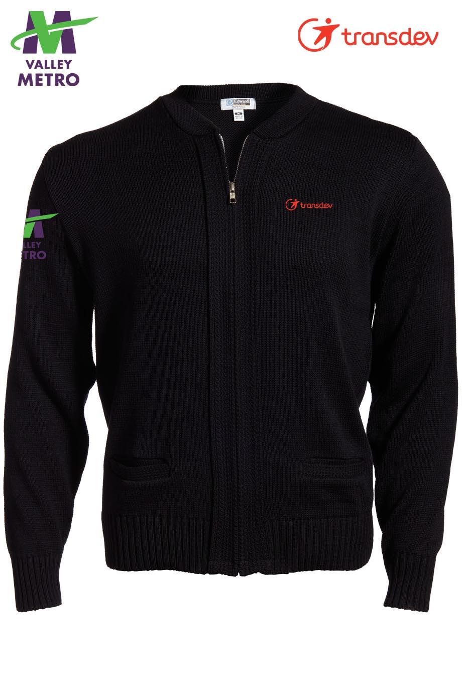 Edwards Full-Zip Acrylic Sweater-