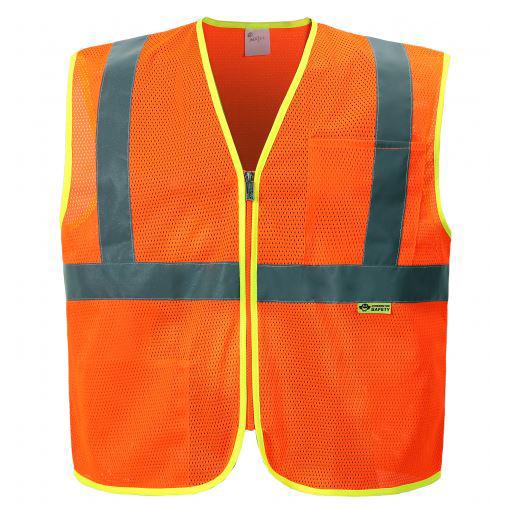 Class 2 Mesh Zippered Safety Vest -Capp Uniform Services