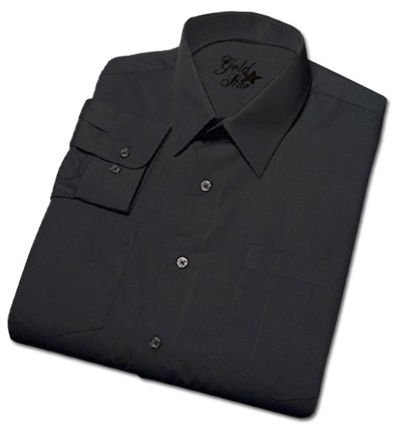 Men's Commercial Long Sleeve Dark Navy Uniform Shirt-Goldstar Shirts & Apparel