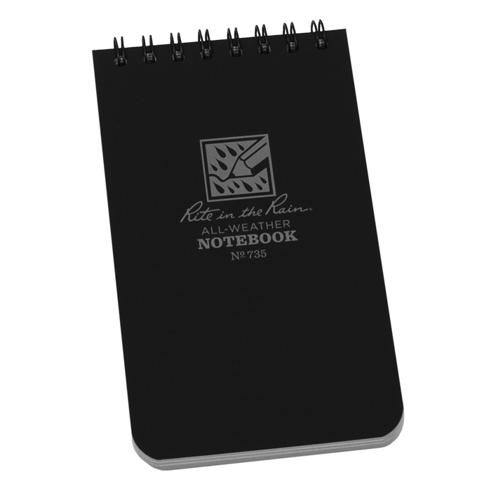 Pocket Top-Spiral Black Notebook -Rite in the Rain