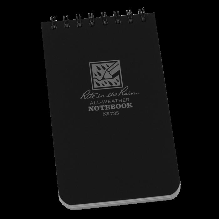 Pocket Top-Spiral Black Notebook