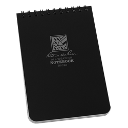 "Pocket Top-Spiral Black Notebook 4"" x 6"""