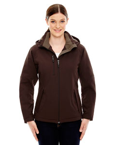 Ash City - North End Ladies' Glacier Insulated Three-Layer Fleece Bonded Soft Shell Jacket with Detachable Hood-AB
