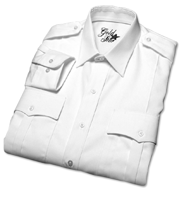 Men's Canadian Military Short Sleeved White Shirts