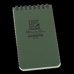 Pocket Top-Spiral Green Notebook