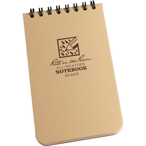 Pocket Top-Spiral Tan Notebook -Rite in the Rain