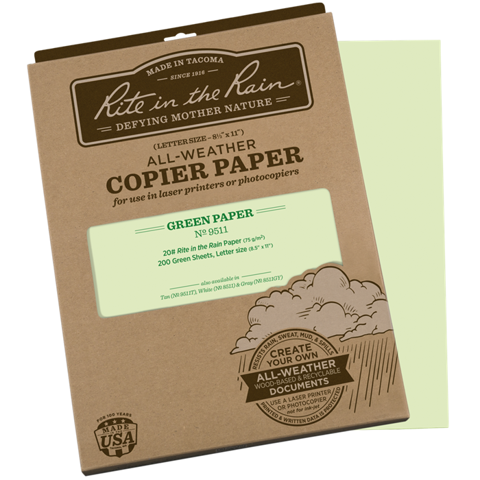 COPIER PAPER - Green-Rite in the Rain