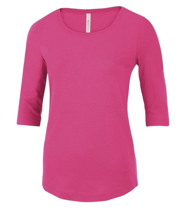 ATC™ EUROSPUN® RING SPUN 3/4 SLEEVE LADIES' TEE. ATC8003L-SM