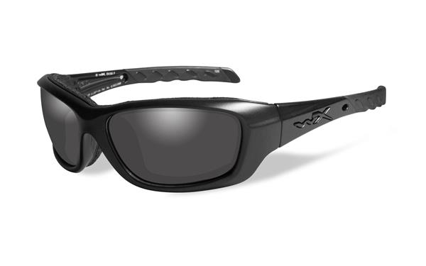 Wiley X Gravity Black Ops Glasses -  Smoke Grey Lens with Matte Black Frames -Wiley X