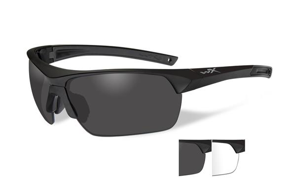 Wiley X Guard Advanced Glasses - Smoke Grey and Clear Lenses with Matte Black Frame -Wiley X