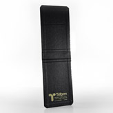 LEATHER CLOTH BLACK CARRYING CASE-Triform