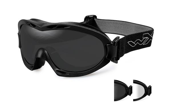 Wiley X Nerve Goggles - Smoke Grey and Clear Lenses with Matte Black Frame -Wiley X