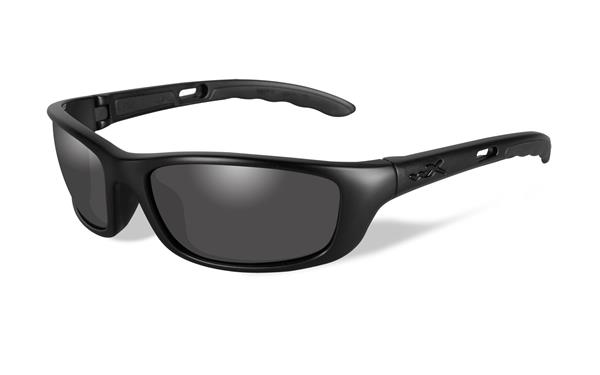Wiley X P-17M Black Ops Glasses - Smoke Grey lens with Matte Black Frame -Wiley X