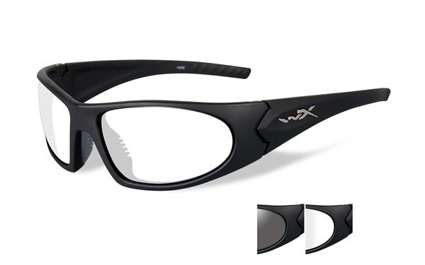 Wiley X Romer Glasses - Smoke Grey and Clear Lenses with Matte Black Frame -Wiley X