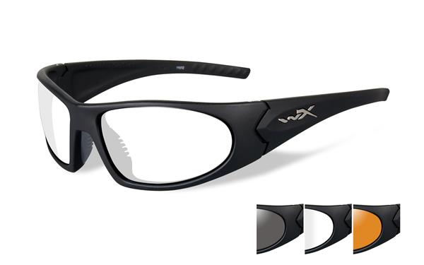 Wiley X Romer Glasses - Smoke Grey, Clear, and Light Rust Lenses with Matte Black Frame -Wiley X