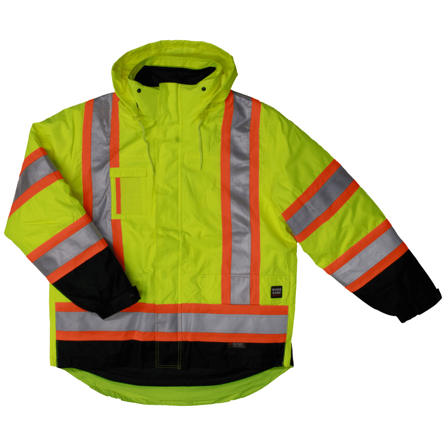 Lined 5-in-1 Safety Jacket-Work King