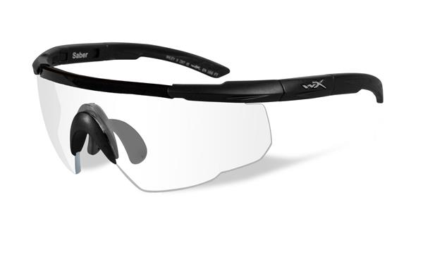 Wiley X Saber Advanced Glasses - Clear Lens with Matte Black Frame -Wiley X