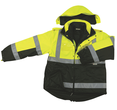 Two Tone Six-In-One Four Seasons Reversible/ Rain Safety Jacket-OPUS