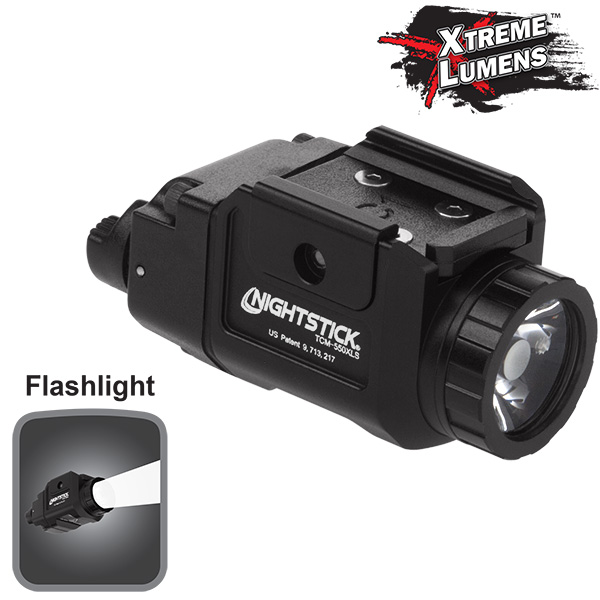 Compact Tactical Weapon-Mounted Light w/Strobe-Nightstick