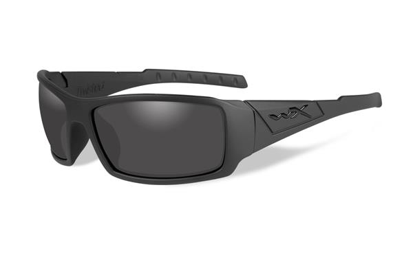 Wiley X Twisted Black Ops Glasses - Smoke Grey Lens with Matte Black Frame -