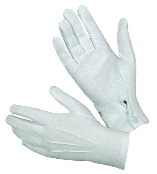 White Cotton Parade Gloves-Hatch