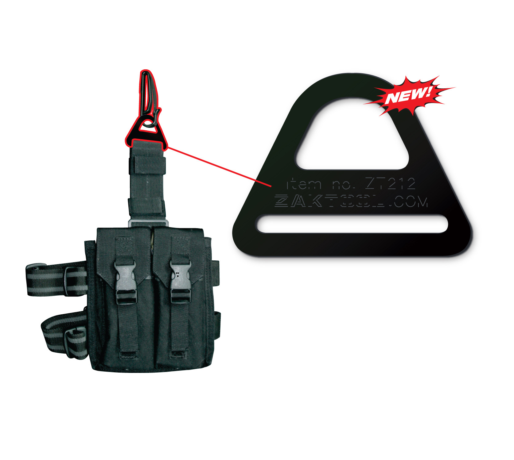 ZAK Tactical Belt Clip System -ZAK Tool