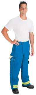 Advance (tm) Deluxe EMS Pant lined with Stedair EMS Moisture Barrier (Lime/Yellow-Silver Triple Trim)-