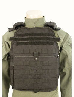 5ive Star Gear Black Bodyguard Plate Carrier Vest-Tru-Spec