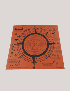5ive Star Gear Orange Survivval Handkerchief-Tru-Spec